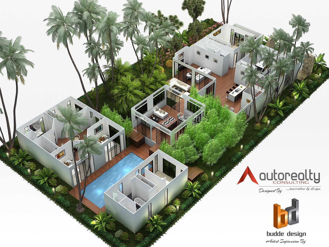 3d Floor Plan Jakarta Indonesia Nathan Budde Cgarchitect Architectural Visualization Exposure Inspiration Jobs