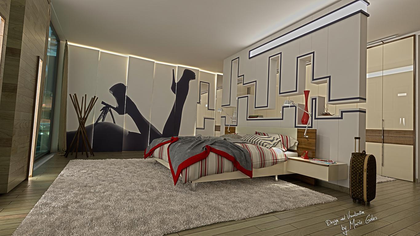 Bedroom Interior Design Sketchup Vray Mario Goles Cgarchitect Architectural Visualization Exposure Inspiration Jobs